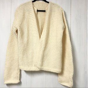 Cream Knit Oversize Sweater